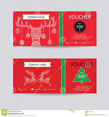 christmas and new year gift voucher certificate coupon template christmas and new year gift voucher certificate coupon template decorate detailed hand drawn christmas