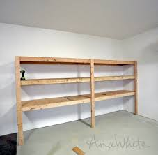 easy and fast diy garage or basement shelving for tote storage ana white build office