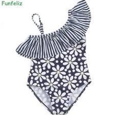 <b>Funfeliz</b> Girls <b>swimsuit</b> 2-12 Years Floral Print <b>One Piece Swimwear</b> ...