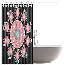 Home & Garden <b>Shower Curtains</b> Mandala Circle Flower <b>Waterproof</b> ...