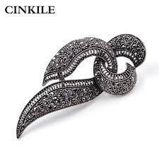 CINKILE Rhinestone Black <b>Bow Brooches</b> for Women <b>Fashion</b> ...