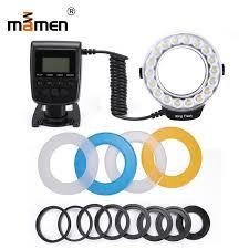 <b>Mamen</b> Macro LED Ring <b>Flash Light Camera</b> LCD Display Speedlite ...