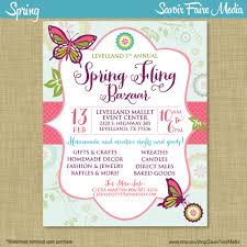 spring bazaar fling craft market expo invitation poster 128270zoom