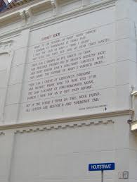 comparative study between sonnet and writework english sonnet xxx of william shakespeare on a wall of the building at rapenburg 30