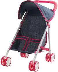 <b>1Toy коляска прогулочная</b> для куклы <b>Красотка</b>-Джинс цвет серый ...