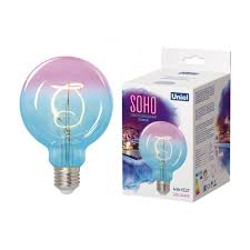 <b>Лампа Uniel led-sf01-4w/soho/e27/cw blue/wine</b> (1002334157 ...