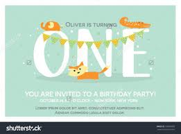 happy birthday invitation template one year stock vector  happy birthday invitation template for one year old in vector