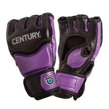 <b>Перчатки тренировочные женские CENTURY</b> (black/purple) L ...