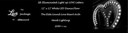 wedding entertainment packages including led dance floors light company details