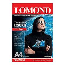 🤑 <b>Бумага LOMOND термотрансферная</b> для темных тканей ...