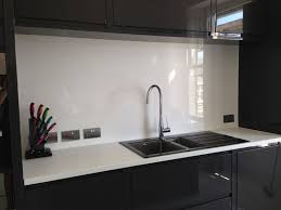 pvc m worktop splashback image of white high gloss acrylic kitchen splashback
