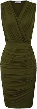 GRACE KARIN Women Retro Long Sleeve Ruched ... - Amazon.com