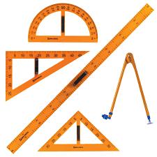 Купить <b>Набор чертежный</b> для классной доски (2 треугольника ...
