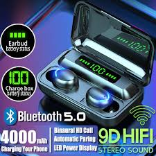 <b>TWS Bluetooth Earphone V5.0</b> 9D Stereo Wireless Headphones ...