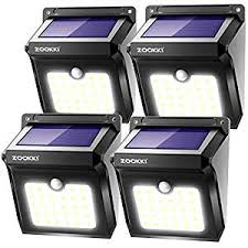 ZOOKKI <b>Solar Lights</b> Outdoor, 28 LED Wireless Motion Sensor ...