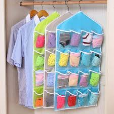 16 Pocket Closet Over <b>Door Wall Hanging Organizer</b> Storage Bag ...