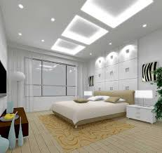 lovely white bedroom design with hidden ceiling lamp and white wall paint color and white mattress ceiling wall lights bedroom