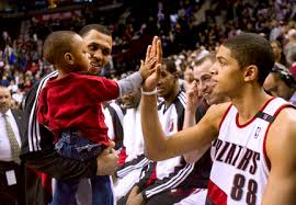 From L to R: Brandon Roy, Brandon Roy Jr., and Nic Batum in a scene that could possibly be re-lived this winter at Target Center.
