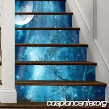 <b>Wall</b> Stickers Mixed Color 18 X <b>100CM</b> X 6 PIECES Moon Forest ...