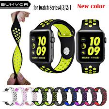 <b>BUMVOR</b> NEW 44/40MM 42/38MM S L size <b>Silicone</b> Sports Colorful ...