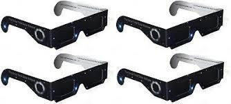 4 x Solar <b>Eclipse</b> Glasses Sun Gazing Kid & Adult Safe Darker Lens ...