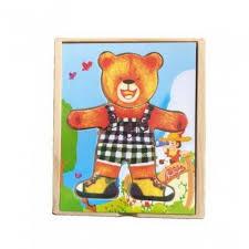 <b>Пазл</b> Медвежонок Миша 18 деталей <b>QiQu Wooden Toy</b> Factory ...
