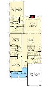 Long and Narrow Craftsman House Plan   LV   st Floor Master    Floor Plan