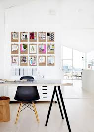 smart art photos wall decor with scandinavian black and white home office set plus laminate floor background creative black and white home office