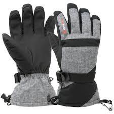 Alpine Swiss Mens Waterproof Gauntlet <b>Ski Gloves</b> Winter Sport ...
