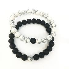 <b>8mm</b> Artificial Lava Stone Chakra Beads Couple <b>Lover Fashion</b> ...