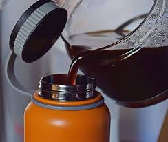 inspired kitchen cdab white brown: ivation flask insulated water bottle  oz stainless steel bpa free orange walmartcom