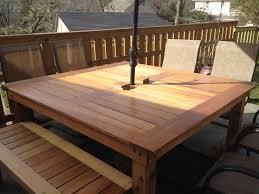 minimalist oval patio table