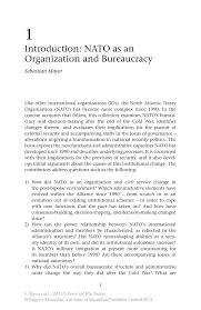 introduction nato as an organization and bureaucracy springer inside