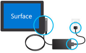 How to charge Surface