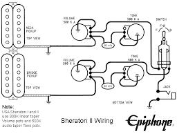 schematics epiphone sheratonii wiring