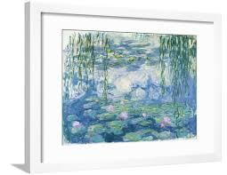 Waterlilies, <b>1916</b>-19 Impressionist Flowers Water Lilies Framed Print ...