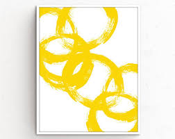 <b>Yellow abstract</b> art | Etsy
