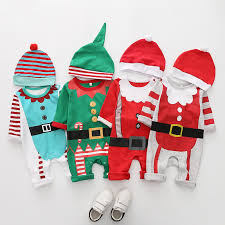 New <b>Christmas clothes baby rompers</b> Boy Girl Kids <b>Romper</b> Hat Cap ...