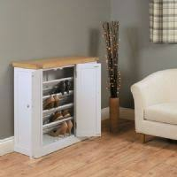 baumhaus chadwick large shoe cupboard grey painted with oak top chadwick satin lacquered oak hidden home