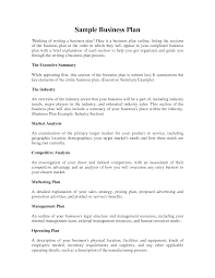 business cover letter plan sample