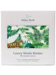<b>Муслиновое одеяло</b> Luxury Watercolor Safari 118*118 см. <b>Adam</b> ...