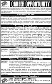 manager finance archives jhang jobs technical staff job eden builders job manager finance legal clerk personal assistant to ceo 13 2014