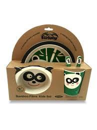 "Набор <b>бамбуковой посуды</b> ""Панда"" (5 предметов) <b>Eco Baby</b> ..."
