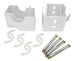 Designer Vertical Column Dual Arm Radiator Brackets <b>92mm</b> (A) x ...