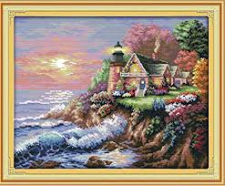 eGoodn Stamped Cross Stitch Kit Accurate Pre ... - Amazon.com