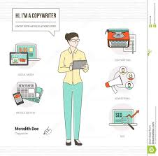 copywriting skills resume equations solver professional copywriter stock vector image 58753406