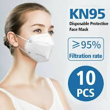 5-<b>100PCS</b> KN95 <b>DISPOSABLE</b> Face <b>Mask</b> Protective Respirator ...