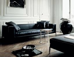 Of Living Rooms With Black Leather Furniture Modern Contemporary Leather Sofa Living Room All Contemporary Design