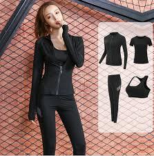 Yoga clothing <b>new</b> Four-piece women's professional <b>morning</b> ...