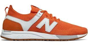 New Balance Suede <b>247 Engineered Mesh</b> in Orange - Lyst